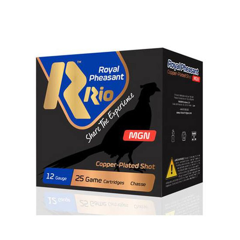 "RIO Ammo Royal Pheasant Copper Magnum 12 Gauge Shotshell 250 Rounds 3"" 1 3/8 oz #6 Shot"