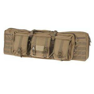"""Drago Gear 36"""" Single Gun Case Tactical Case 600 Denier Nylon MOLLE Panels Tan"""