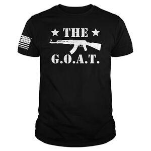 Printed Kicks The GOAT AK Men's Short Sleeve T-Shirt Size Medium Cotton Black