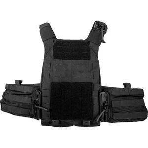 """Grey Ghost Gear SMC Plate Carrier Laminate 10""""x12"""" Plate Compatible MOLLE/PALS Webbing Black"""
