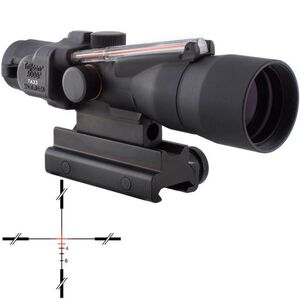 Trijicon ACOG TA33R-11 3x30 Rifle Scope Illuminated Red Crosshair .223 Remington Ballistic Reticle 1/4 MOA with TA60 Mount Aluminum Black TA33R-11