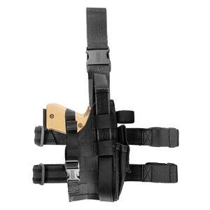 BLACKHAWK! Nylon Omega VI Elite GLOCK/SIG Right Hand Draw Tactical Drop Leg Holster Black 40QD02BK