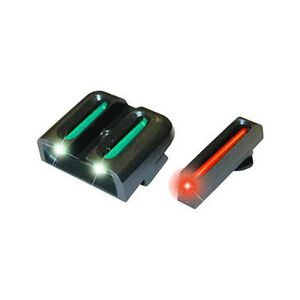 TRUGLO  Brite-Site GLOCK 42 Sight Set Fiber Optic Red Front Green Rear Steel Black TG131G3