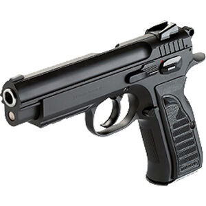 "Tanfoglio IFG TF-Combat-9 9mm Luger Compact Semi-Auto Pistol 4.40"" Barrel 16 Rounds 3-Dot Sights Steel Frame Black Finish"