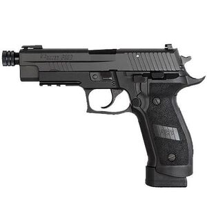 "SIG Sauer P226 Tactical Operations Threaded Semi Auto Handgun 9mm Luger 4.4"" Threaded Barrel 20 Rounds SIGLITE/TRUGLO Sights SRT Trigger Polymer Grips Black Anodized Frame Nitron Slide E26R-9-TACOPS-TB"