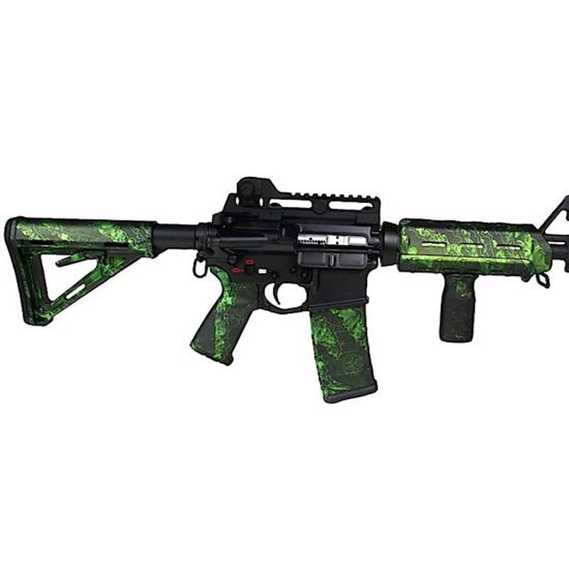 Matrix Diversified Industry Ar 15 Magpul Furniture Kit Mil Spec Polymer Zack Green Camo Finish Magmil05zg