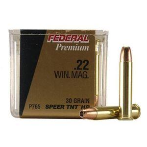 Federal V-Shok .22 WMR Ammunition 50 Rounds 30 Grain Speer TNT Hollowpoint 2,200 Feet Per Second