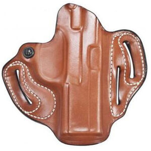 """DeSantis Speed Scabbard Holster fits Ruger-57 OWB 1.75"""" Belt Right Hand Leather Tan"""