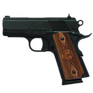 "Iver Johnson Semi Auto Handgun 1911 Thrasher 9mm Luger 3.12"" Barrel 8 Rounds Large Diamond Walnut Grips Blued Finish GIJ14"