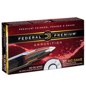 Federal .30-06 Springfield Ammunition 20 Rounds Nosler Accubond 180 Grains