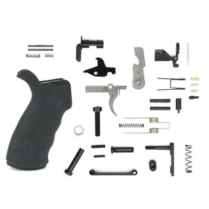 TacFire AR-15 USA Made Lower Parts Kit With Rubberized Grip Black LPK03USA-B
