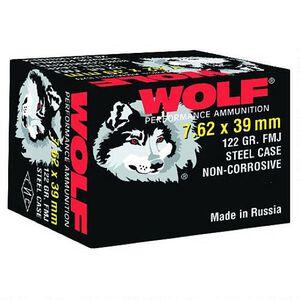 Wolf Performance 7.62x39 Ammunition 122 Grain Bi-Metal FMJ Steel Case 2362 fps 20 Rounds