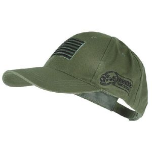 Voodoo Tactical Cap Poplin Embroidered Logo and Flag Adjustable One Size OD Green 20-9353004000