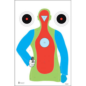 "Action Target High Visibility Fluorescent B-21E Target 23"" x 35"" Black Blue Orange Red 100 Pack"