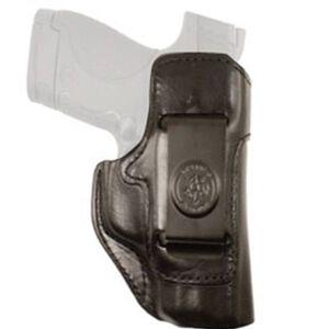 DeSantis Inside Heat S&W M&P Shield 9mm/.40 S&W Inside Waistband Holster Right Hand Leather Black 127BAX7Z0