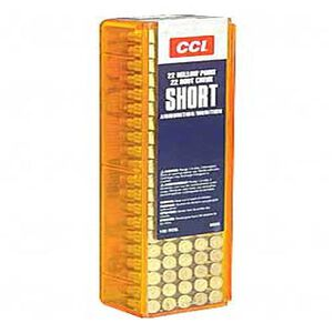 CCI .22 Short Ammunition 100 Rounds Copper Plated HP 27 Grain 1,105 Feet Per Second
