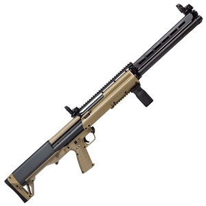 "Kel-Tec KSG-25 Pump Action Shotgun 12 Gauge 30.5"" Barrel 3"" Chamber 24 Rounds Dual Tube Magazines Downward Ejection Ambidextrous Synthetic Stock Tan/Matte Black Finish"