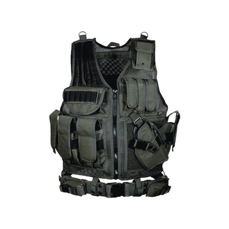 Leapers UTG Law Enforcement Tactical Vest for Right-Hand Shooters Black