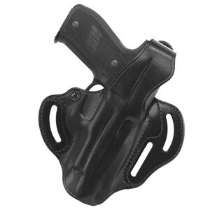 """Galco Cop 3 Slot Belt Holster 1911 5"""" Right Hand Leather Black CTS212B"""