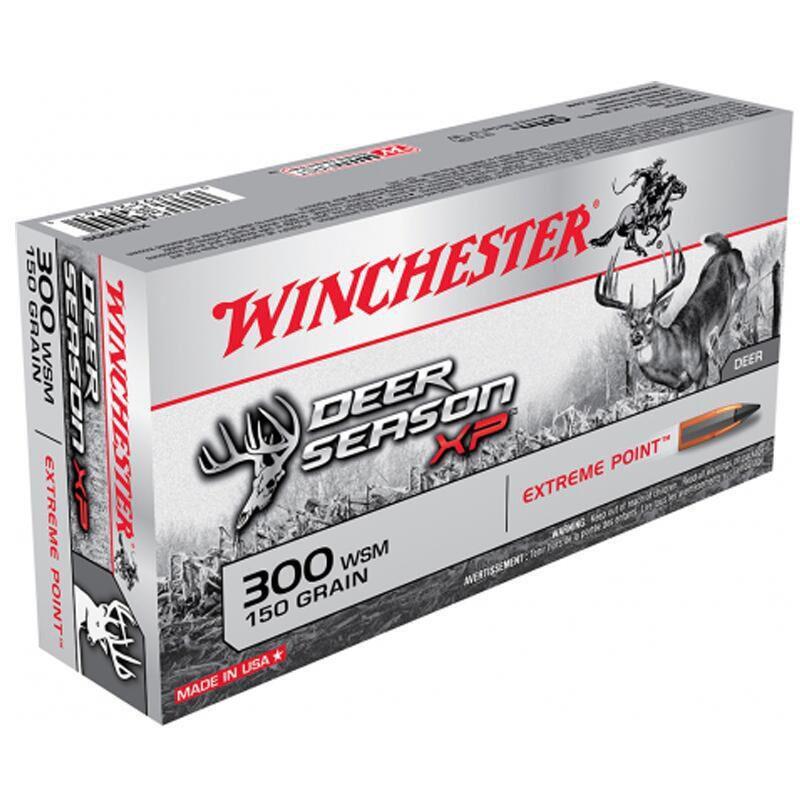 Winchester Deer Season XP .300 WSM Ammunition 200 Rounds PT 150 Grains X300SDS