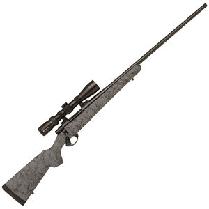"""Howa HS Precision .300 PRC Bolt Action Rifle 24"""" Threaded Barrel 3 Rounds Grey HS Precision Stock with Black Webbing Blued Finish"""