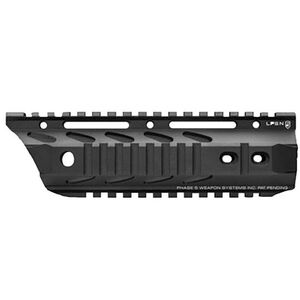 """Phase 5 AR-15 Lo-Pro Slope Nose 7.5"""" Free Float Quad Rail 6061-T6 Aluminum Hard Coat Anodized Matte Black Finish"""
