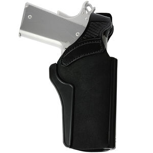 """Galco Wraith 2 Paddle Holster Fits Colt 1911 with 5"""" Barrel and Similar Accommodates Most Carry Style Red Dots Right Hand Leather/Polymer Black"""