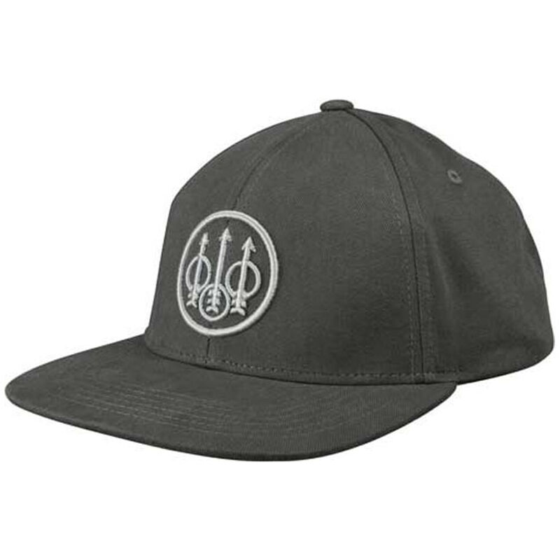 Beretta Cotton Twill Ball Cap Flat Bill OSFM Graphite Gray