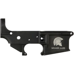 Anderson Manufacturing AR-15 Stripped Lower Receiver .223/5.56 Molon Labe Mil-Spec Open Trigger Aluminum Black