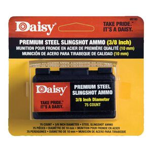 "Daisy Premium Steel Sling Shot Ammunition 3/8"" Diameter Zinc Plated 75 Count 8183"