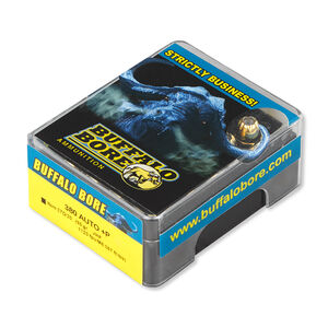 Buffalo Bore .380 ACP +P Ammunition 20 Rounds JHP 95 Grains 27D/20