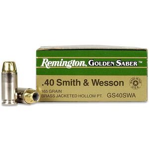 Remington .40 S&W 165 Grain JHP 25 Round Box 1050 fps