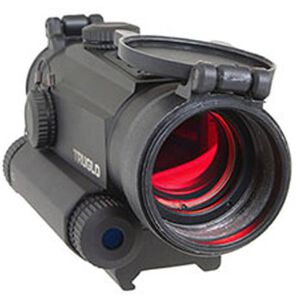 TRUGLO Tru-Tec 30mm Red Dot Sight with Integrated Green Laser 2 MOA Reticle 1/2 MOA Adjustments Picatinny/Weaver Rail Compatible Matte Black TG8130GN