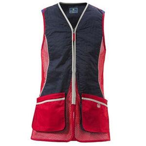 Beretta New Silver Pigeon International Style Shooting Vest XL Red/Navy