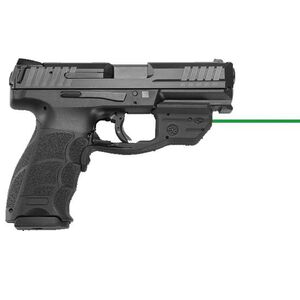 "H&K VP9 Semi Auto Pistol 9mm Luger 4.09"" Barrel 15 Rounds Striker Fired 3-Dot Sights Crimson Trace Green Laser Polymer Frame Black Finish"