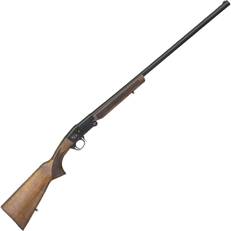 "Charles Daly 101 12 Gauge Single Barrel Break Action Shotgun 28"" Barrel 3"" Chamber 1 Round Extractors Walnut Stock Black"