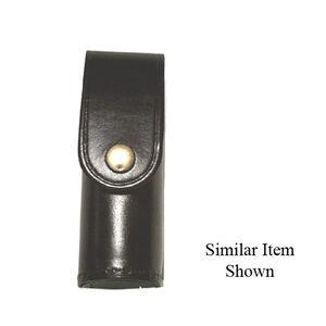 Stallion Leather Mk-3 Pepper Spray Holder Basket Weave Nickel Snap Black