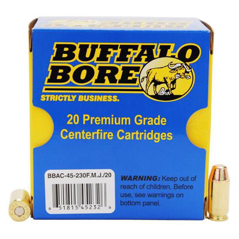 Buffalo Bore .45 ACP +P Ammunition 20 Rounds FMJ FN 230 Grain 45-230 FMJ/20