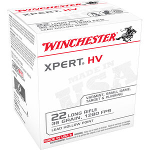 Winchester Xpert .22LR Ammunition 36 Grain Lead Hollow Point 1280 fps