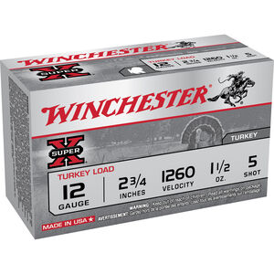 "Winchester Super X 12 Gauge Ammunition 100 Rounds 2.75"" #5 Plated Lead X12MT5"