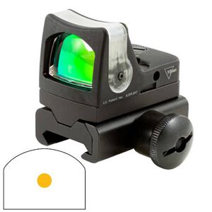 Trijicon RMR Reflex Sight 1 MOA Illuminated Amber Dot Reticle Aluminum Black with Weaver Rail Mount RM03-34W