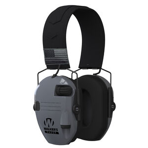 Walkers Razor Patriot Electronic Earmuff Slim Over Ear Protection Exclusive Gray