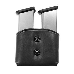 Galco DMC Double Mag Carrier for Doublestack 9mm 40S&W, Black Leather