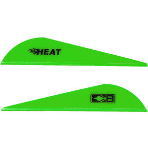 Bohning Blazer Heat Hunting Vanes 6 Grains Synthetic Neon Green 36 Pack