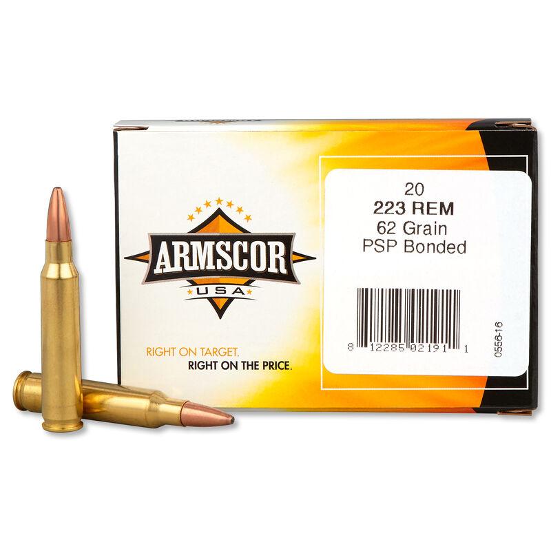 Armscor USA .223 Remington Ammunition 1000 Rounds Bonded SP 62 Grains F AC 223-4N