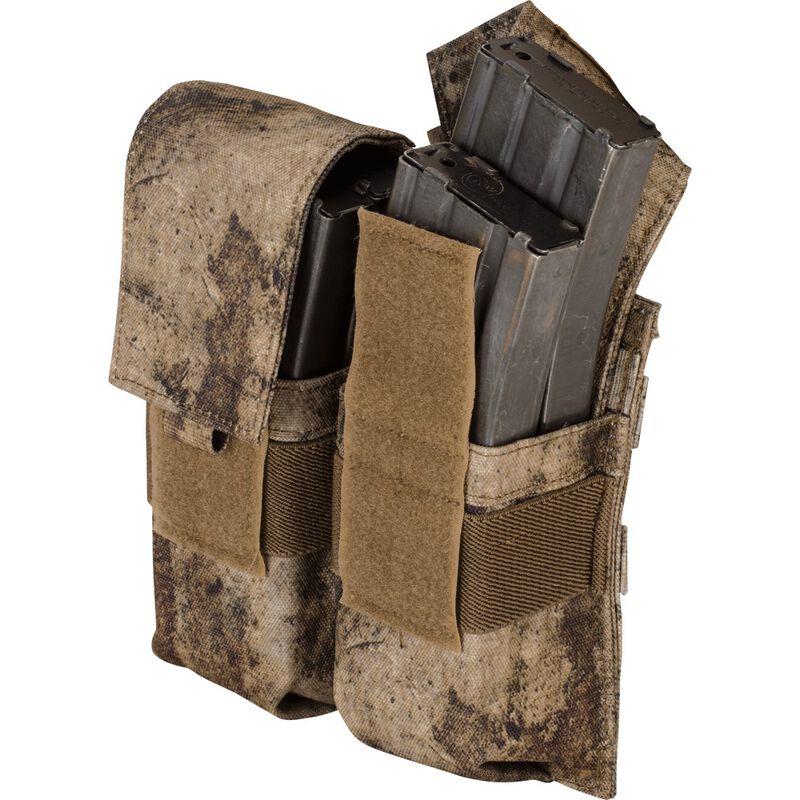 Voodoo Tactical AR-15/M4/M16 Double Magazine Pouch Hook/Loop Flap PALS Webbing Compatible Nylon Matte Black
