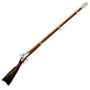 "Chiappa Firearms 1861 Springfield Black Powder Rifled Musket .58 Caliber Percussion 40"" Barrel Walnut Stock Satin White 910.000"