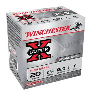 """Winchester Super-X 20 Ga 2.75"""" #8 Lead 1oz 25 Rounds"""
