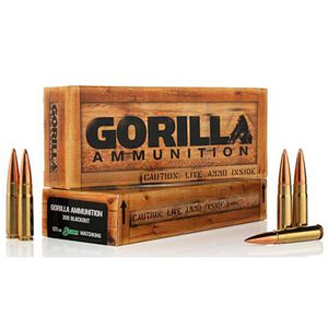Gorilla .300 AAC Blackout 125 Grain BTHP 20 Round Box