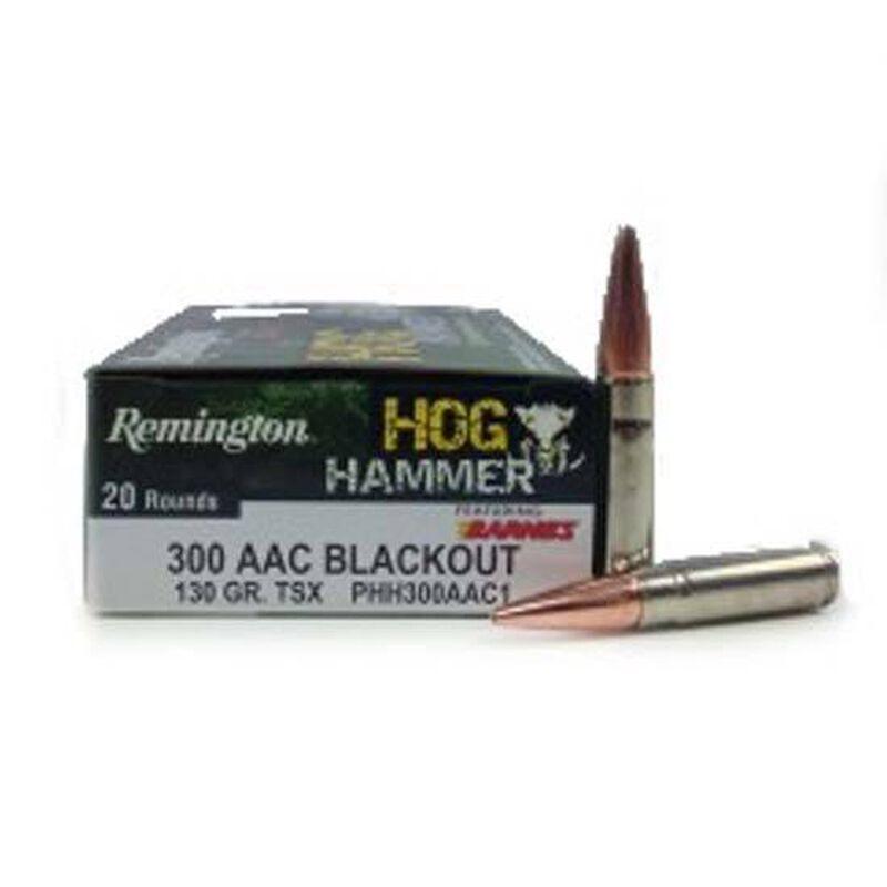 Remington .300 AAC Blackout Hog Hammer Ammunition 20 Rounds, TSX BT, 130 Grains